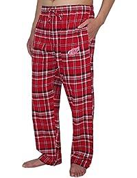 NHL Detroit rouge Wings Pantalons pour hommes automne / hiver Plaid Pyjama