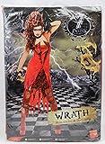 Original Lizenz Sieben Todsünden Zornkostüm Rot für Damen Zorn Kostüm Halloween Damenkostüm Halloweenkostüm Gr. 36/38 (S), 40/42 (M), Größe:S