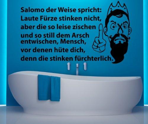 Toiletten Spruch Aufkleber, Wandtattoo Badezimmer, WC Bad Klo Dekoration 1K007