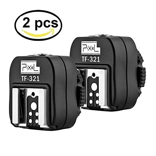 2 Pcs Pixel E-TTL Flash TF-321 Blitzschuhadapter mit Extra PC Sync-Anschluss für Canon DSLRs und Blitzgeräte Flash Pc Sync