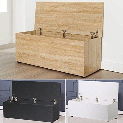 Generic * Man legno cassapanca Man wo contenitore grande otto grande ottomana in legno Orage box CH Bedding Seat Toy cabinet coperchio tronco armadio coperchio colore: casuale
