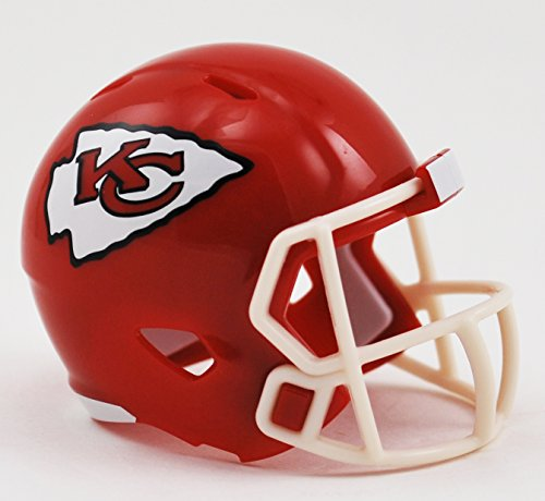 Riddell Mini-American-Football-Helm, NFL-Team: Kansas City Chiefs, im Taschenformat, Speed Pocket