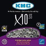 KMC Chain X-10-93 Cadena Estrecha, Unisex Adulto, Gris, 114 eslabones