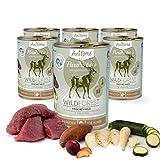 AniForte® PureNature Nassfutter 400g Wild Forest Hundefutter- Naturprodukt für Hunde (Frisches Wild, 6x400g)
