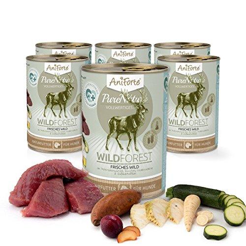 Comida Húmeda para Perros Sin Cereales | 88,2% Carne de Venado Wild...