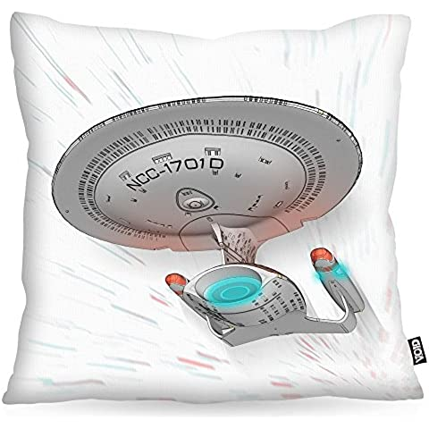 VOID NC-1701-D Cuscini campione rivestimento per uso outdoor e indoor trekkie trek star, Kissen Größe:60 x 60 cm