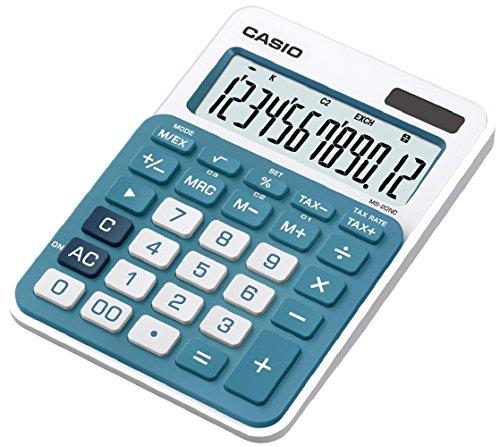 Galleria fotografica CASIO MS-20NC-BU calcolatrice da tavolo - Display a 12 cifre, struttura di colore bianco/blu