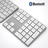 Bluetooth Numeric Keypad, IKOS Portable Wireless Bluetooth 34-key External Number pad with Multiple Shortcuts for Computer Laptop Windows Surface Pro Apple iMac Mackbook iPad Android Tablet Smartphone
