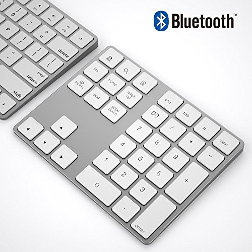 rnblock 34-Keys Bluetooth Keypad,White ()