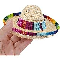 Back Packers Sombrero de Pajita Mexicana para Mascota, con Hebilla Ajustable