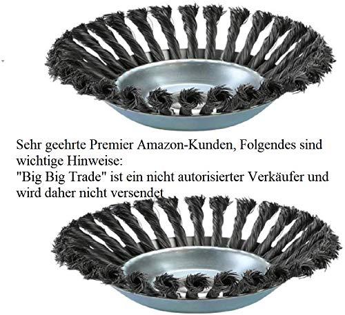 Schmidt GbR Profi Wildkraut Fugenbürste Unkrautbürste,2 Pack,25,4 mm x 200 mm,8 Zoll Rotary Weed Brush Joint Twist Disc Rundbürste für Freischneider,Rasenmäher (2 Pack)