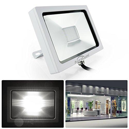 AuraLum® LED Fluter 10W Strahler Scheinwerfer Außenstrahler AC200-240V SMD 3030 5000K 750Lumen kaltweiß