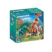 Playmobil 9431 Motorbike with Raptor Toy Set, Multi
