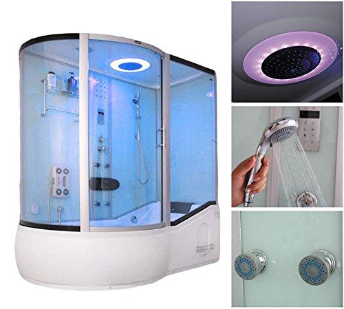 Home Deluxe ALL IN 4in1 weiß links Duschtempel, inkl. Dampfsauna und komplettem Zubehör