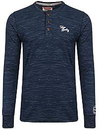 Tokyo Laundry - T-Shirt à manches longues - Chemise - Homme bleu bleu Small
