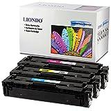 3 Liondo Toner Kompatibel zu HP CF541A CF542A CF543A 203A Color LaserJet Pro MFP M254dw/nw M280nw M281fdn/fdw