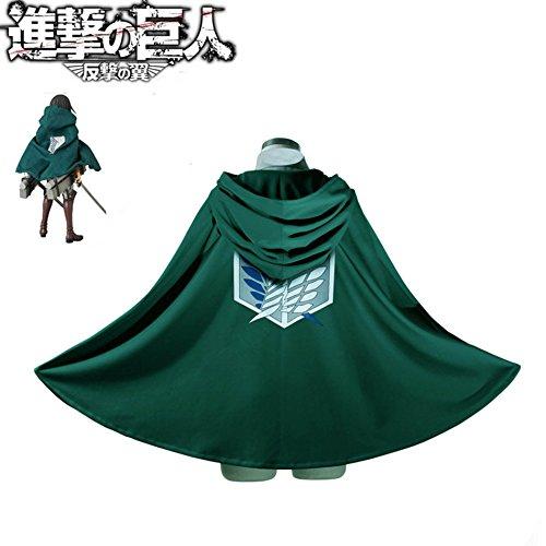 SYMTOP Comic Cape Umhang Mantel Legion Kostüm Grün - Eren Titan Kostüm