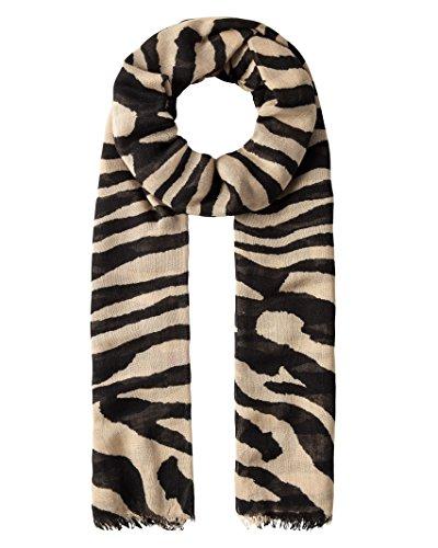 Vincenzo Boretti Damen Schal Tuch modisch - mit schlichtem Zebramuster
