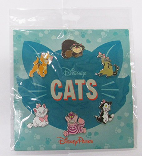 Disney Pins HKDL Disney Cats 6 Pin Booster Set - Marie Cheshire Figaro Lady Oliver Si and Am by Disney -