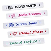 72 Woven Name Labels Sew In School Name Tags Tapes - MESSAGE DETAILS AFTER ORDERING