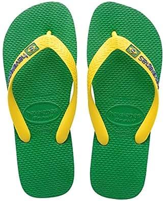 Havaianas Brasil Logo, Unisex Adults' Flip Flop Sandals, Green (Green 2703), 1.5 UK (35/36 EU) (33/34 BR)