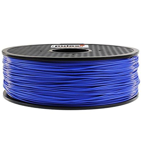 Pulox 3D Drucker Filament Rolle 1kg passend für MakerBot RepRap MakerGear Ultimaker uvm. (PLA 1.75, Blau)