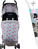 Universal Baby Fußsack für Kinderwagen, Maxi Cosi, Bugaboo, Maclaren, BabyBjörn, Chicco, Baby Jogger by janabebe® (CRABBY, BAUMWOLLE)