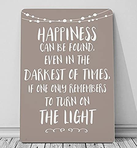 Happiness can be found in the darkest – Harry Potter quote STONE A4 metal sign plaque wall