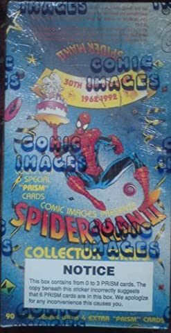 marvel spider-man 30th anniversary trading cards - sealed box 1992