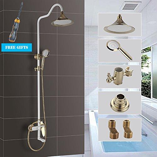 Cascata di Whirlpool del bagno rubinetto, singolo rubinetto elettrico, in parete del rame antico rubinetto, nella parete della doccia, miscelatore bagno doccia rubinetto a cascata della doccia