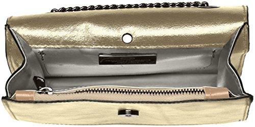 Chicca Borse 1622, Borsa a Spalla Donna, 22x16x6 cm (W x H x L) Oro