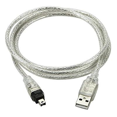 1.5 m USB câble de données USB 2.0 mâle vers FireWire IEEE 1394 4-Pin pour DV HDV caméscope macbook Sony DCR-TRV75E DV par Aquiver
