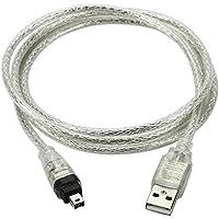 1.5 m USB câble de données USB 2.0 mâle vers FireWire IEEE 1394 4-Pin pour DV HDV caméscope macbook Sony DCR-TRV75E DV