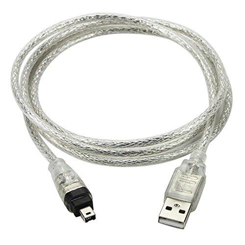 Nouveau 1.5m USB câble de données FireWire IEEE 1394pour mini DV HDV...