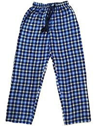 Twist Men's Blue And Black And White Checked 100% Cotton Pyjama Sleepwear Night Wear With Contrast & Free Shipping