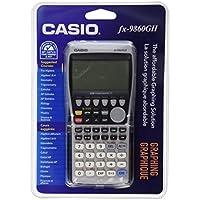 Casio FX-9860GII - Calculadora (Escritorio, Batería, Graphing calculator, Plata, De plástico, Botones)