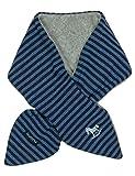 maximo Baby-Jungen Schal 85600-018600, GOTS Steckschal, Fleece, Jersey, Ringel, Blau (Marine-Jeansmeliert 4863), One Size