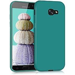 kwmobile Coque Samsung Galaxy A5 (2017) - Coque pour Samsung Galaxy A5 (2017) - Housse de téléphone en Silicone pétrole Mat