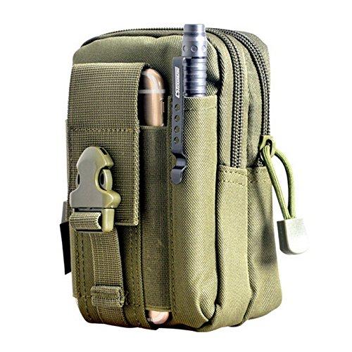 yaruijia Outdoor Tactical Marsupio Borsa MOLLE EDC campeggio trekking Pouch Purse Cell Phone Case, CP mimetico verde