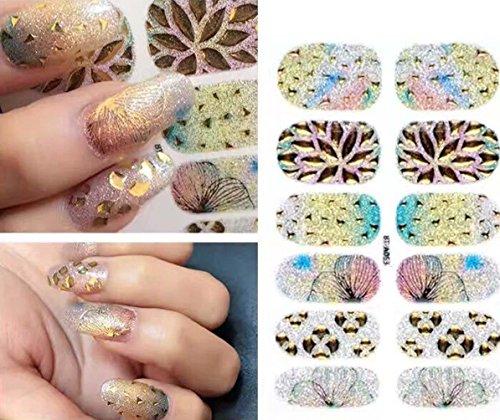Deco Fingers Zehen Vinyl Folien Abstraktes Muster Trendy Style , D (Kürbis Halloween-gesichter-muster)