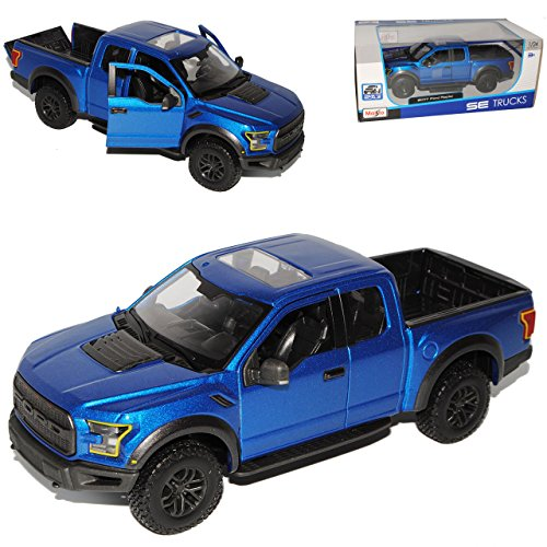 Maisto Ford F-150 Raptor Blau Pick-Up 13. Generation Ab 2014 Version 2017 1/24 Modell Auto (Ford F150 Raptor)