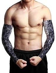 bras mâle crème solaire fleur bras d'équitation en plein air de voiture de sport de glace manchette manches de tatouage manchette jeux de glace saison Sixia , xl