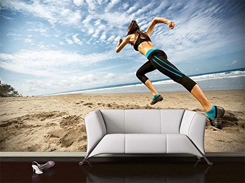 Wxlsl Benutzerdefinierte 3D Tapete Non-Woven Wandbild Wohnzimmer Beauty Run Gym 3D Foto Bild Tv Sofa Hintergrundbild Home Decor-250cmx175cm -