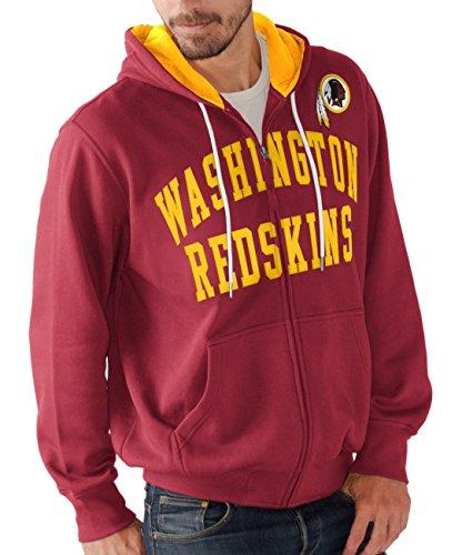 "Washington Redskins NFL G-III ""Pass Attempt"" Full Zip Hooded Men's SweatShirt Camicia"