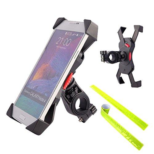VMOJO Verstellbar Motorrad Fahrradhalterung Handy-Halter,Universal 360° Drehbare Halterung mit Seitlich Kippen Für 3,5-6,5 Zoll Smartphone GPS Andere Geräte (Handy-halter Für Motorrad)
