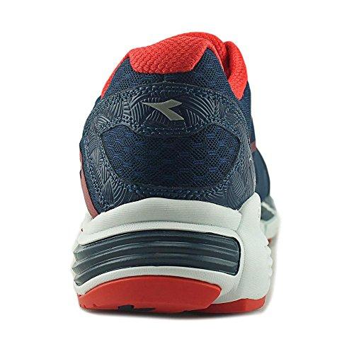 Diadora M.Shindano Plus 2 Synthétique Chaussure de Course Bleu marine/rouge