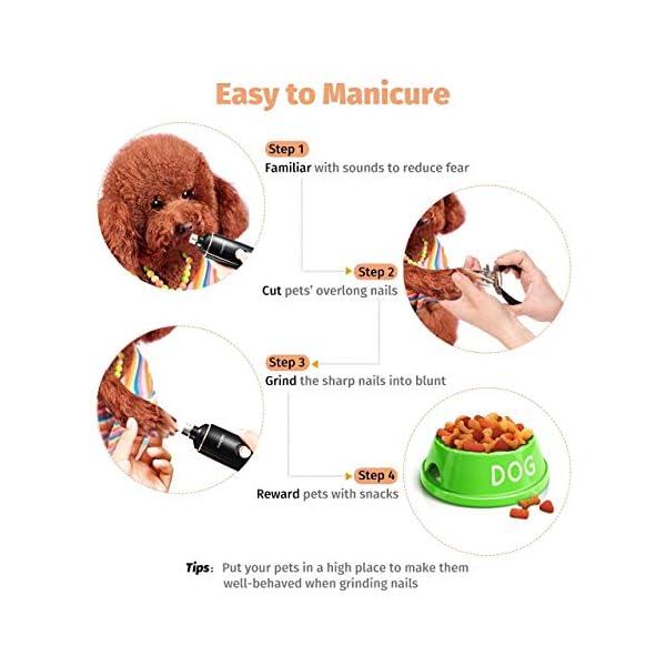OMORC Electric Dog Nail Grinder 6