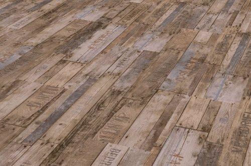 PARADOR Elastische Bodenbeläge Vinyl Classic 2050 Boxwood Vintage braun Stabmix Gebürstete Struktur aus Vollmaterial Vinylboden zum Klicken Paket a 2,12m² Klickvinyl