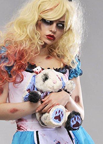 Halloween Zombie Alice, die blutigen weiße Kaninchen zu (Kostüm Im Kaninchen Wunderland Alice)