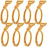 SENHAI Furet Déboucheur, Lot de 8 Nettoyeur pour Drain pour Nettoyer des Cheveux - Orange